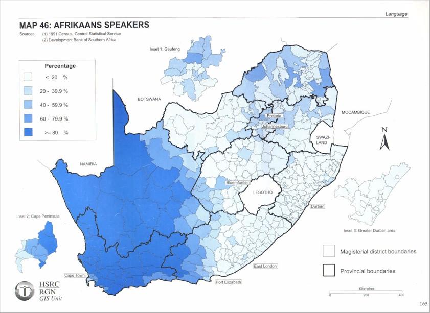 South African Languages Language Distribution Maps - African language map